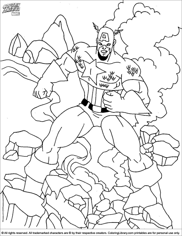 Captain America coloring page online