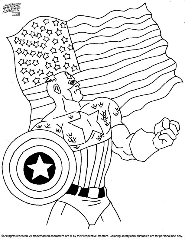 Image Result For Captain America Coloring Pages Captain