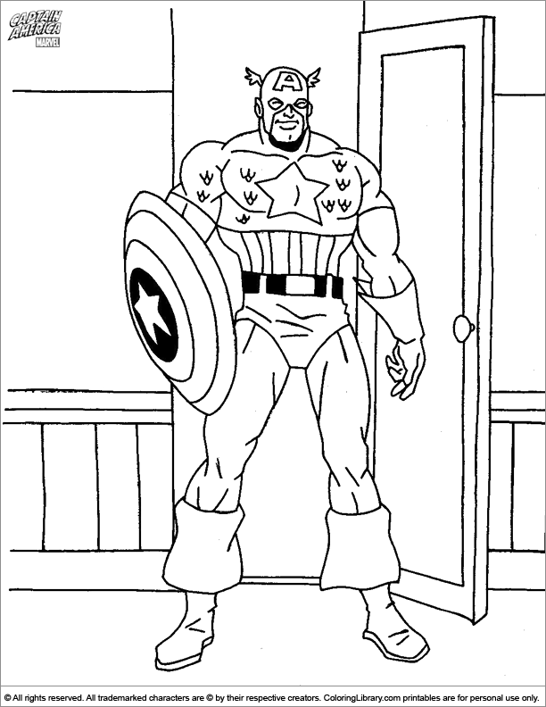 Captain America online coloring page