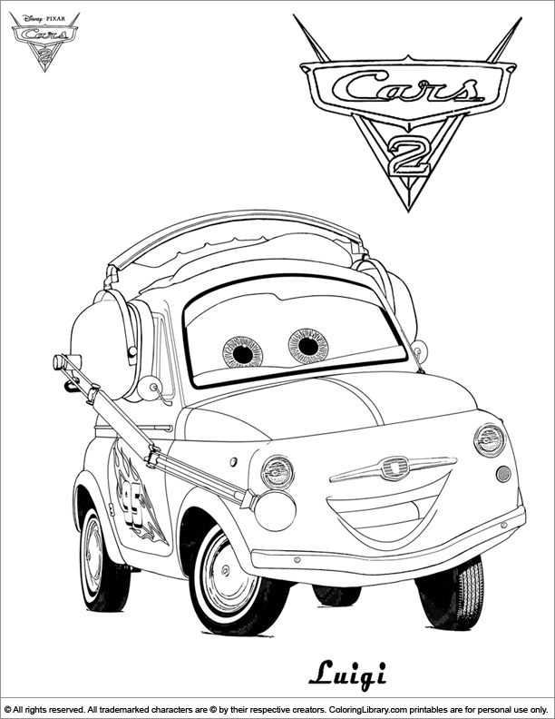 Coloring Pages Cars 2 Lightning Mcqueen Printable Coloring Cars Disney -  Ecolorings.info | 792x612