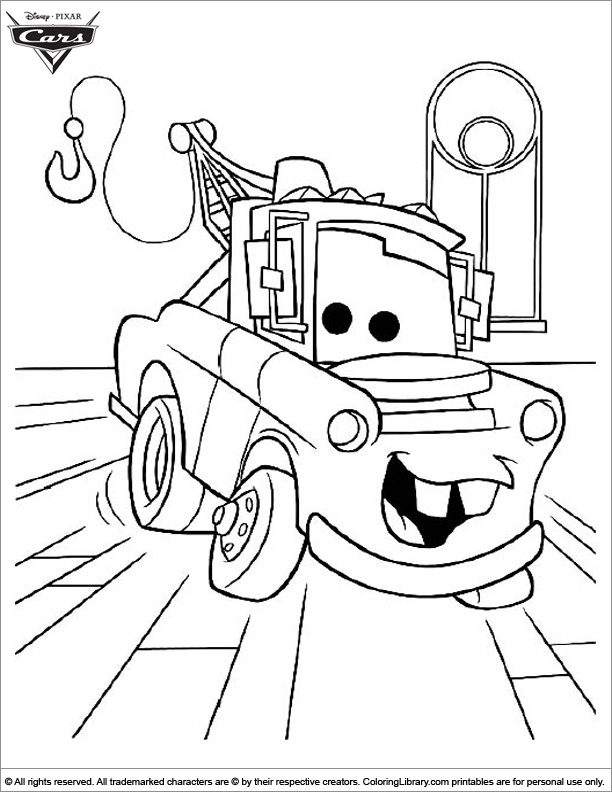 Cars coloring sheets for kids