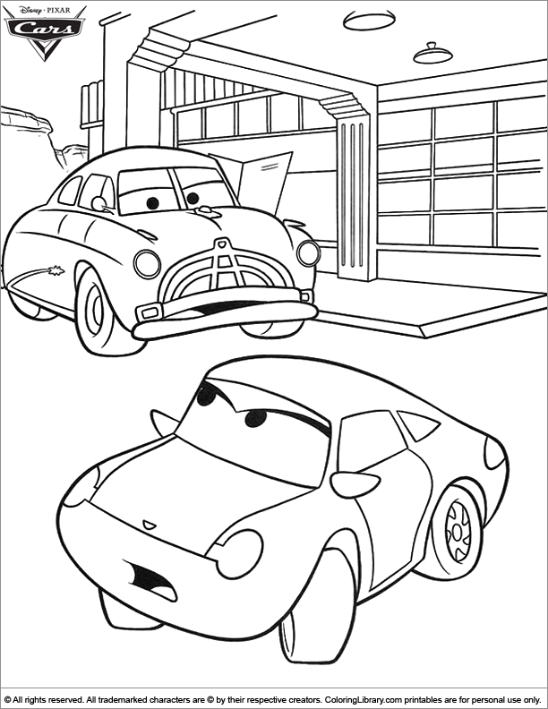 Cars Coloring Page Online Coloring Library
