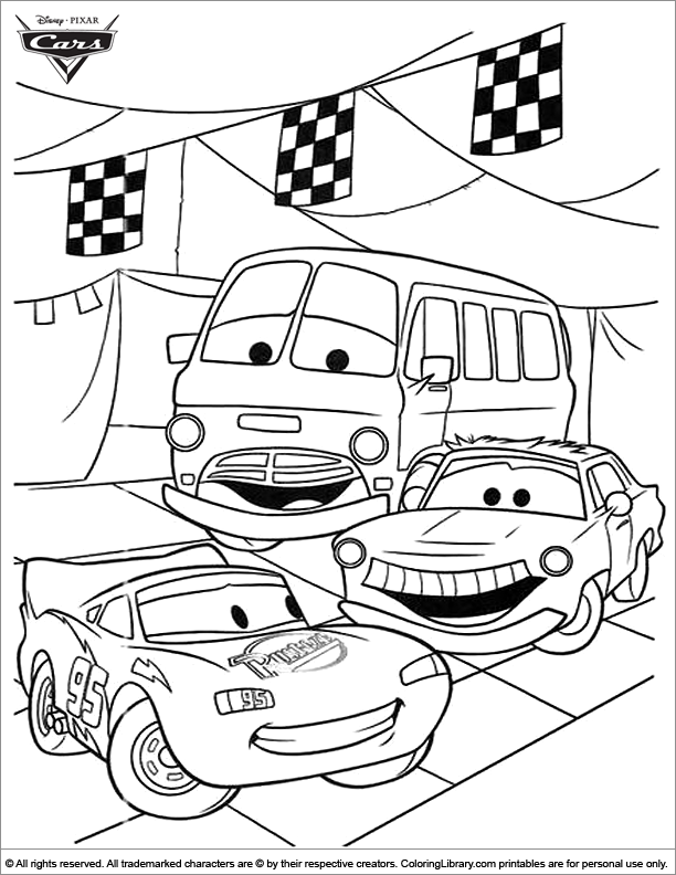 Cars Free Coloring Sheet Coloring Library