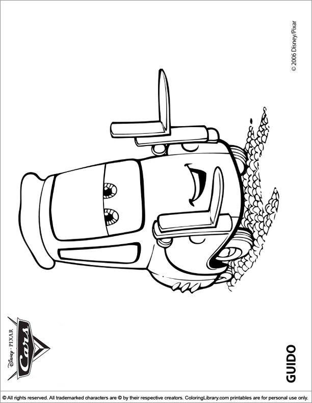 Cars colouring sheet