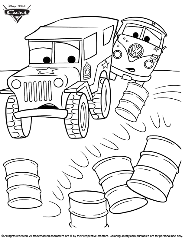 Cars coloring page online