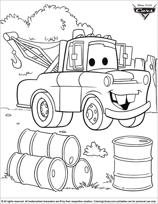 Cars free printable coloring page