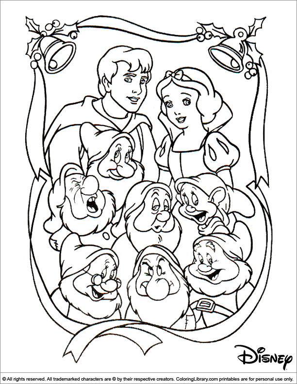 Christmas Disney coloring picture