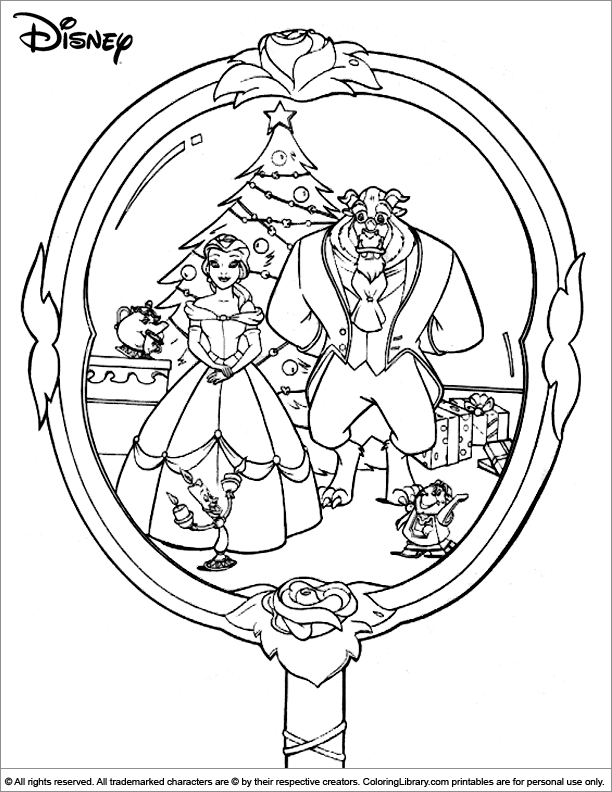 Christmas Disney coloring