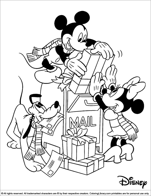 Christmas Disney free coloring picture