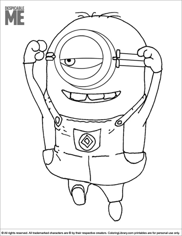 Despicable Me free coloring page