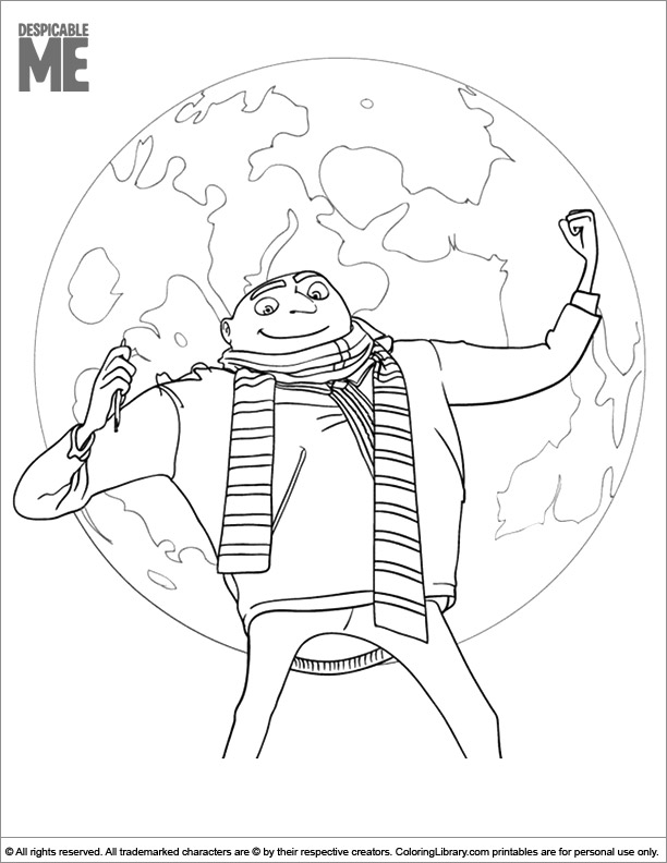 Despicable Me printable coloring page
