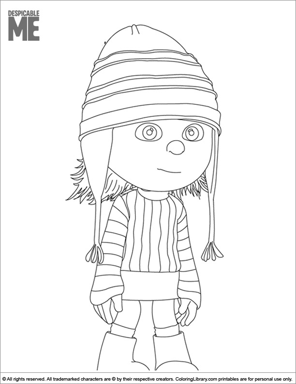 Despicable Me coloring book page for kids