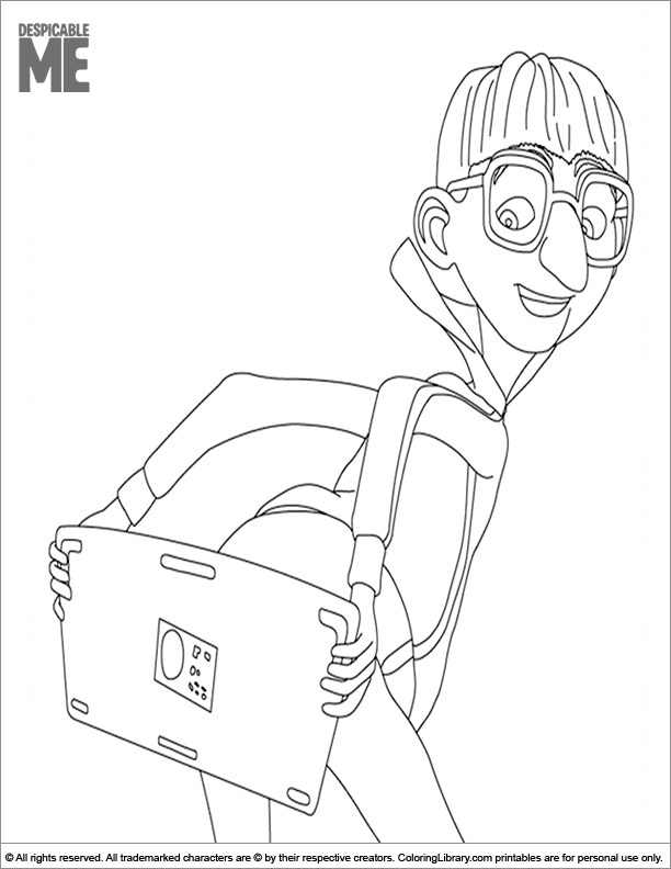 Despicable Me free printable coloring page
