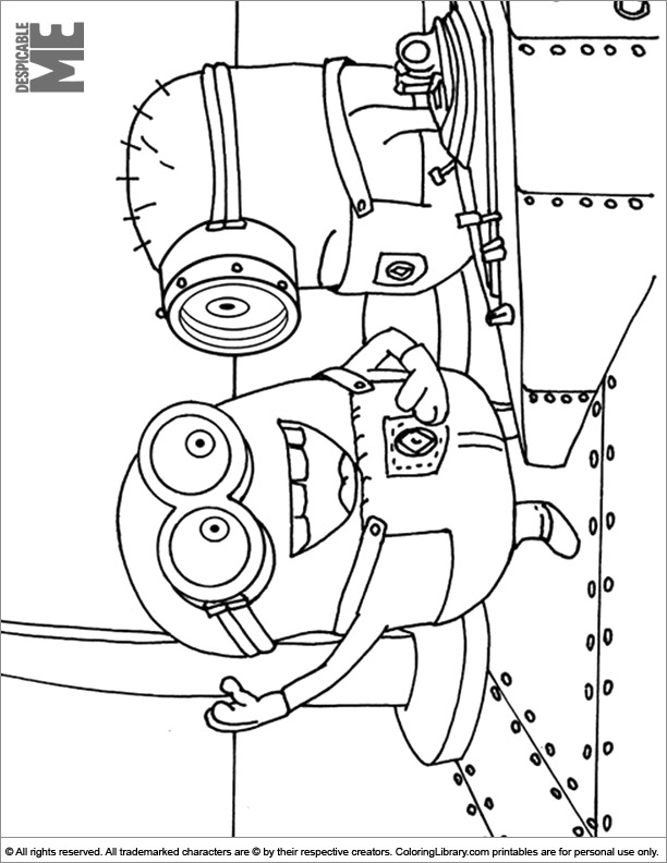 Despicable Me coloring sheet for kids