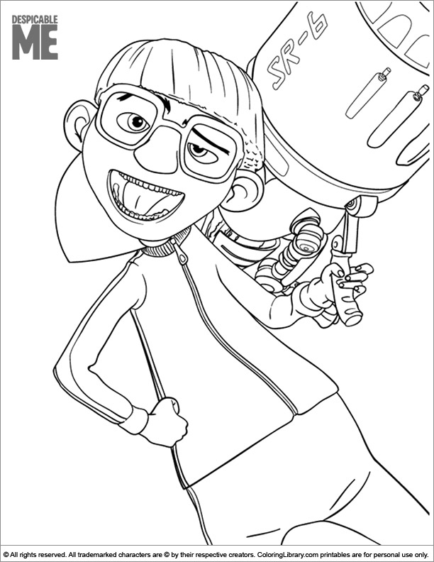 Despicable Me coloring picture for kids