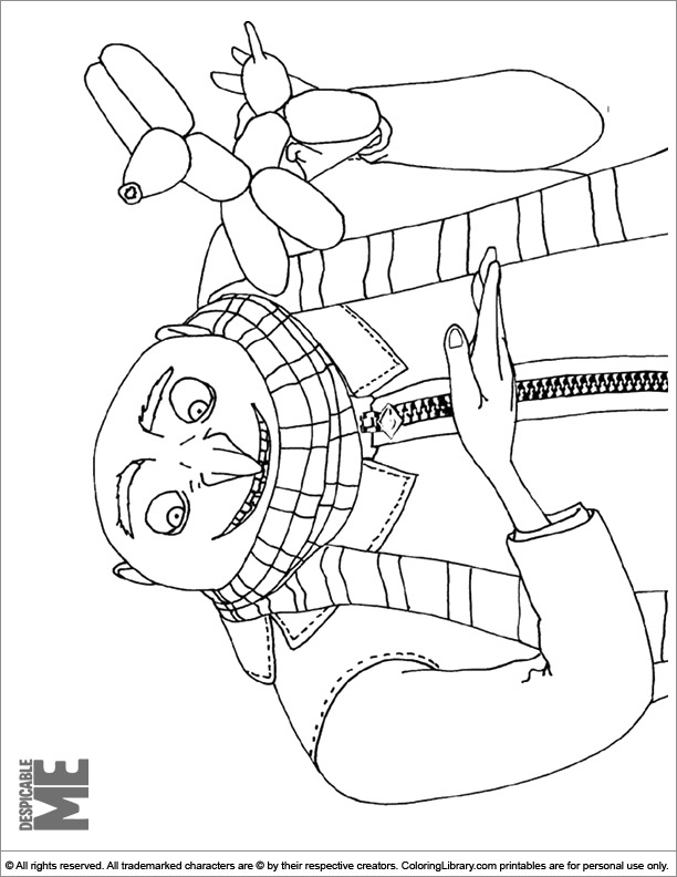 Despicable Me colouring in