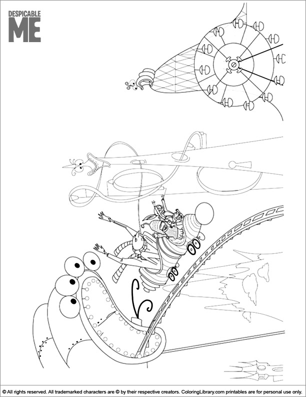 Despicable Me coloring page to print