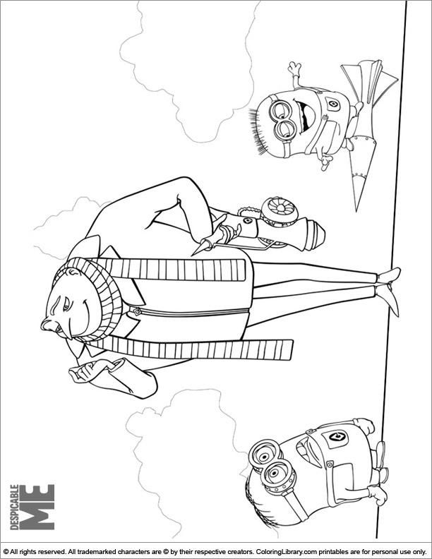 Despicable Me free coloring sheet
