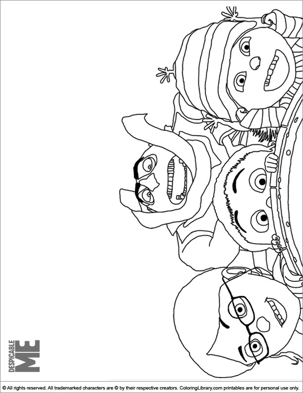 Despicable Me fun coloring page