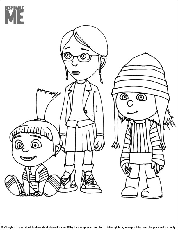 Printable Despicable Me coloring page