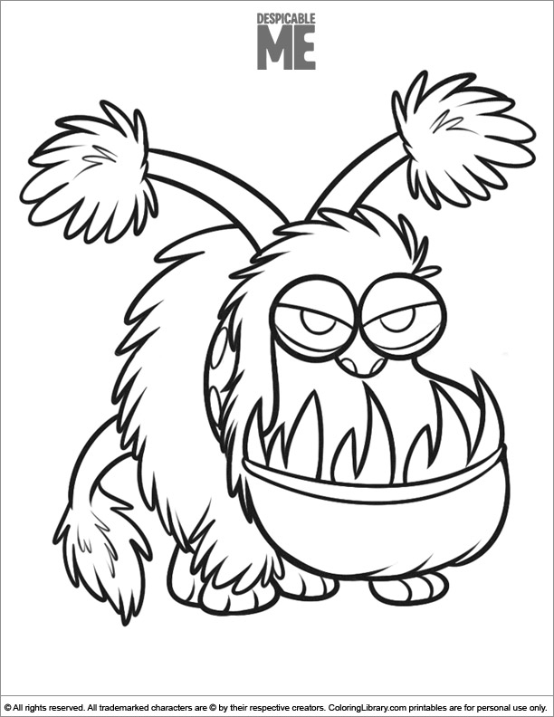 Cool Despicable Me coloring page