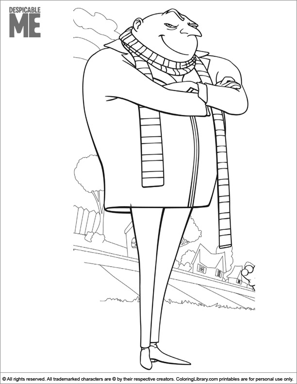 Free Despicable Me coloring page