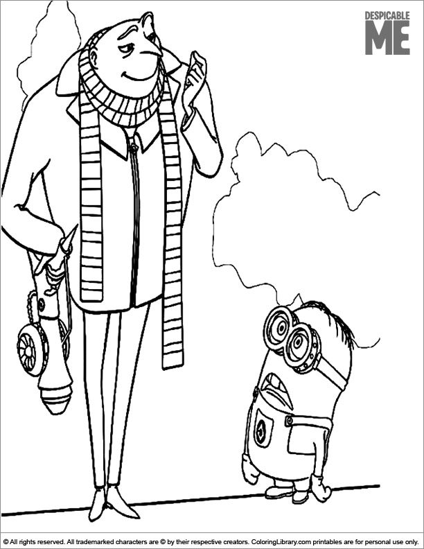 Despicable Me coloring page online
