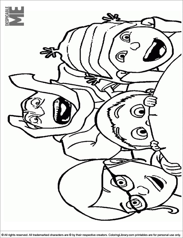 Despicable Me coloring image