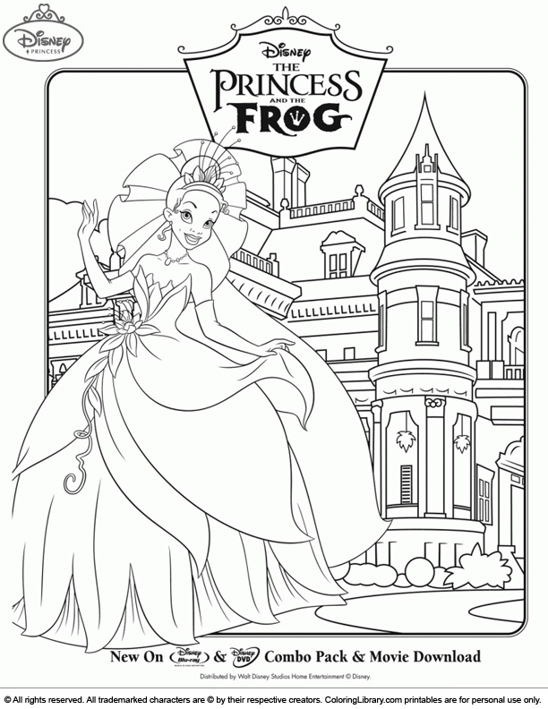 Disney Princesses coloring page online
