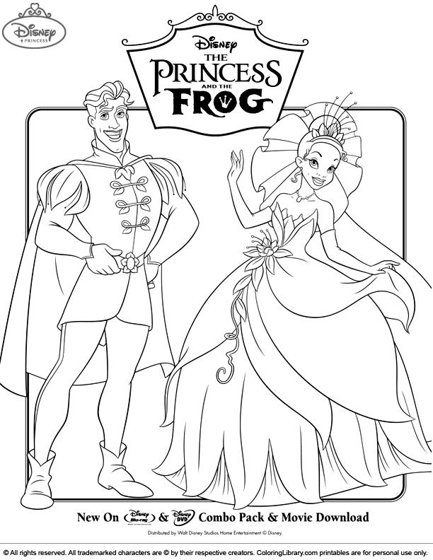 Disney Princesses coloring book page