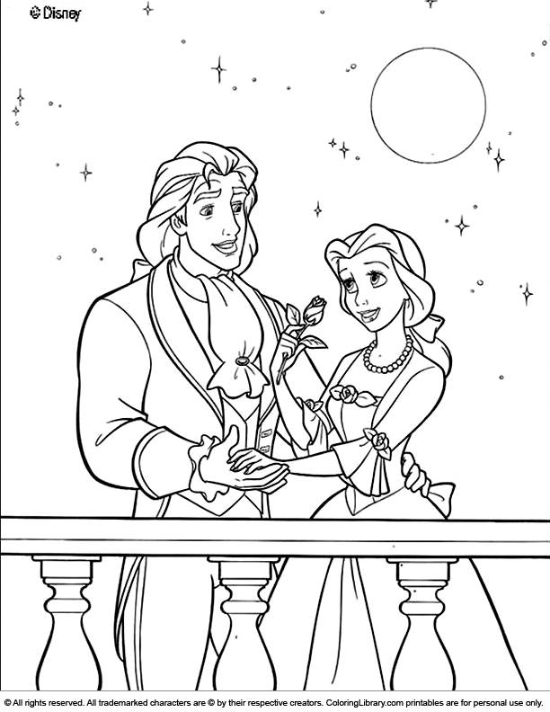 Free Disney Princesses coloring page