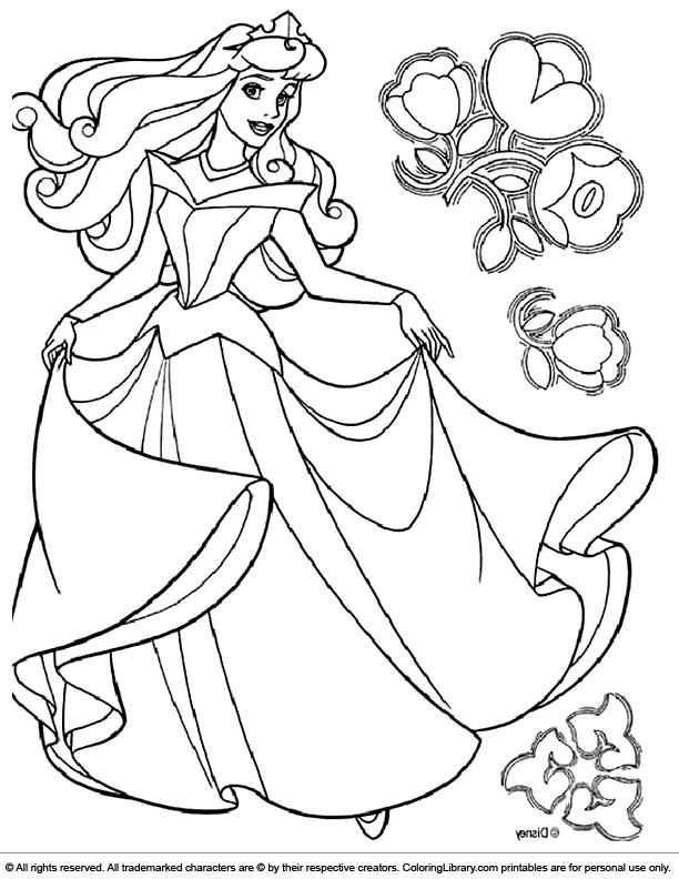 Disney Princesses coloring book printable