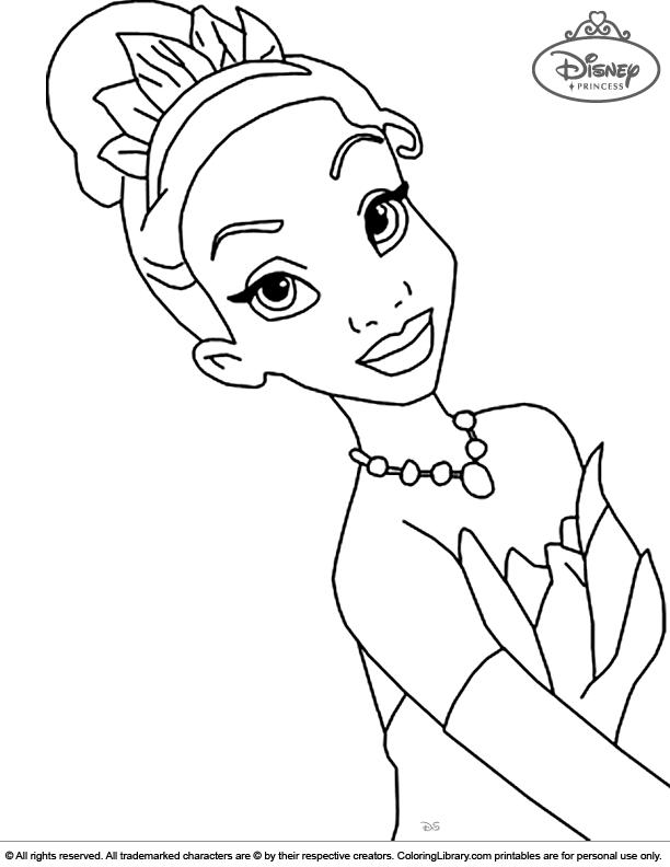 Fun Disney Princesses coloring page