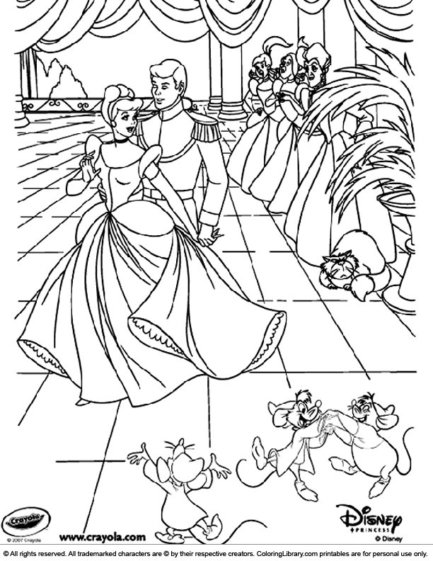 Disney Princesses coloring printable for kids