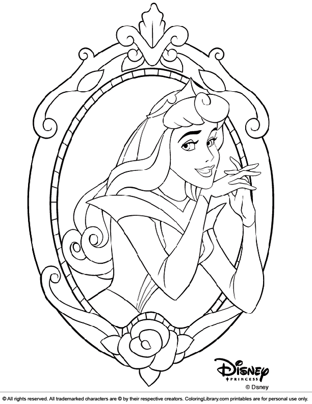 Disney Princesses colouring sheet for kids