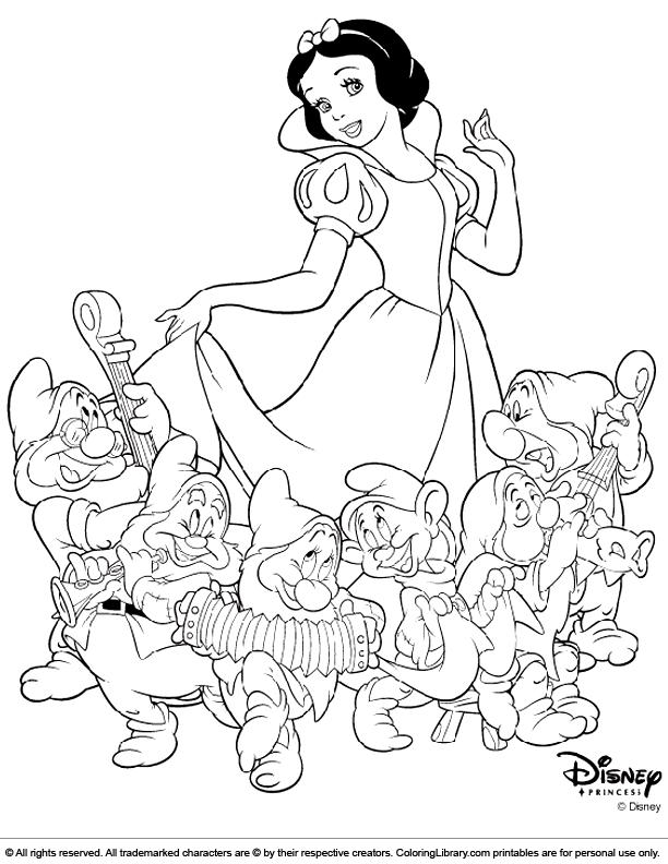 Disney Princesses coloring printable
