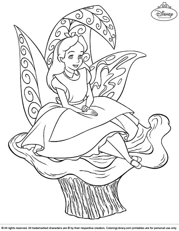 Disney Princesses free coloring sheet