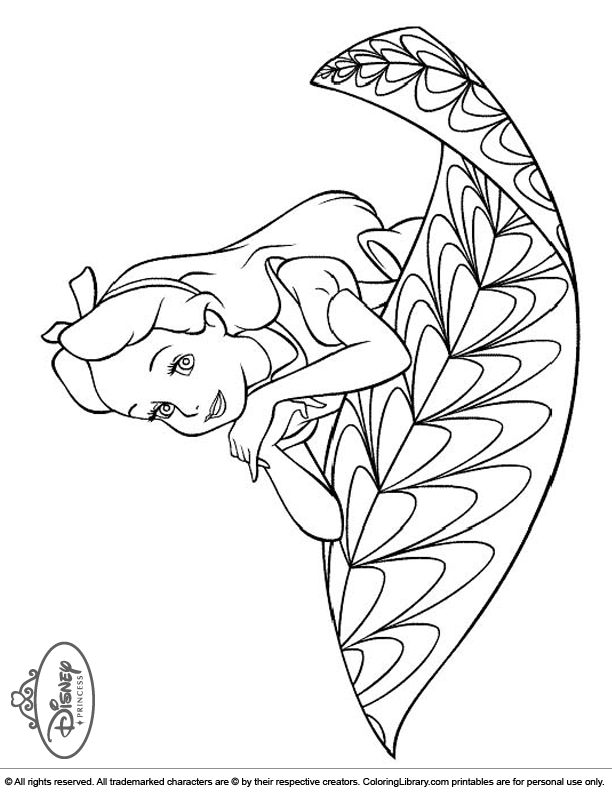 Disney Princesses coloring sheet for kids