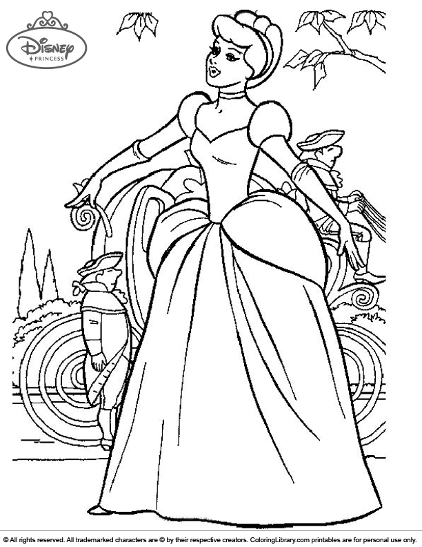 Disney Princesses Coloring Page Online - Coloring Library