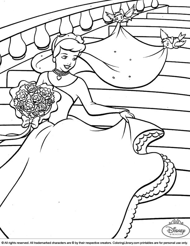 Disney Princesses online coloring page