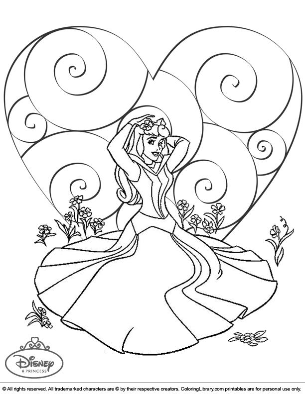 Disney Princesses color book page