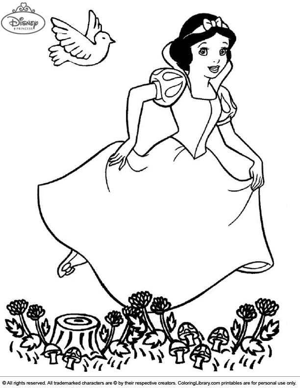 Fun Disney Princesses coloring sheet