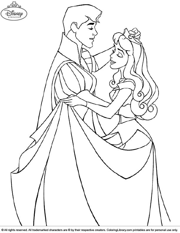 Disney Princesses color page