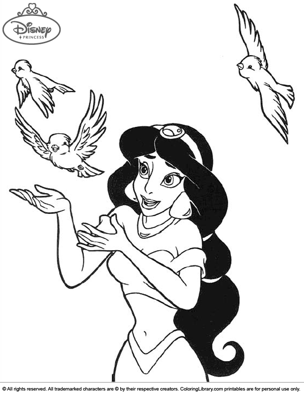Disney Princesses colouring page