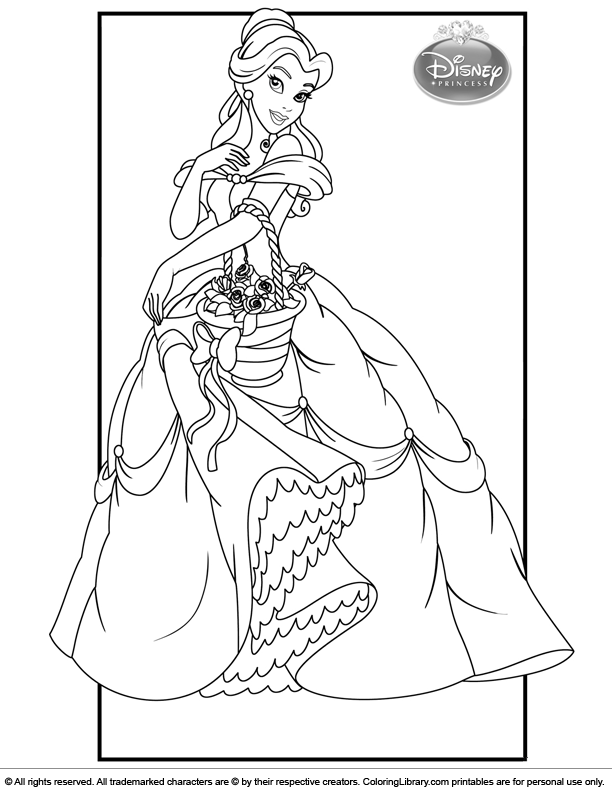 Disney Princesses cool coloring
