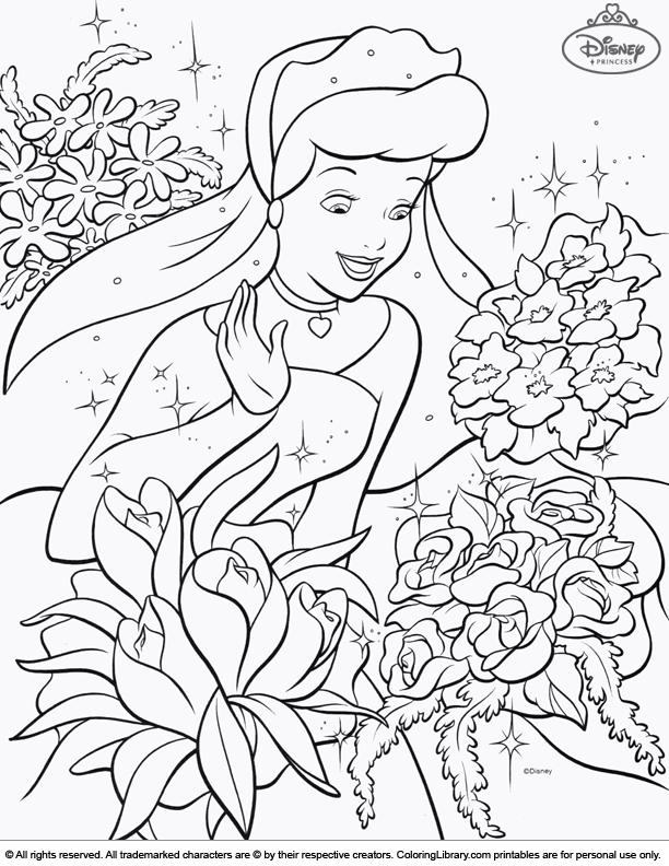Disney Princesses fun coloring sheet