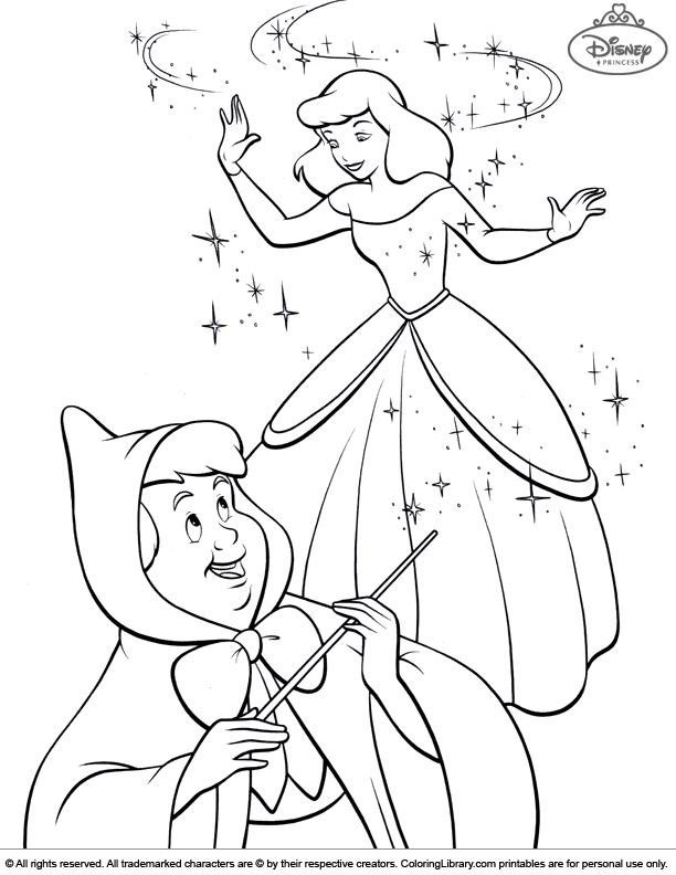 Disney Princesses picture to print and color
