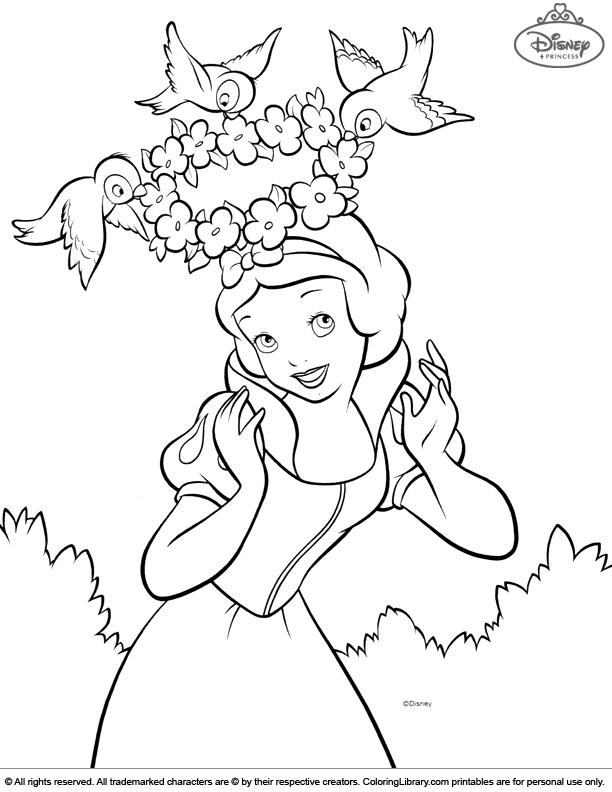 Disney Princesses coloring picture