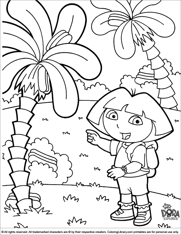 Dora the Explorer coloring page online