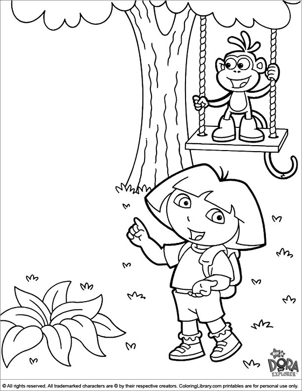 Free Dora the Explorer coloring page